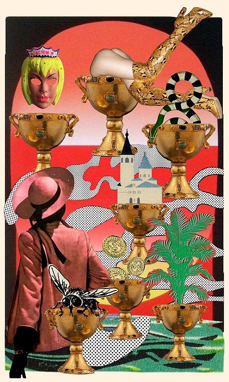 Seven of Cups- Fine Art Print