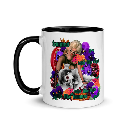 Femmes who like...Mug with Color Inside