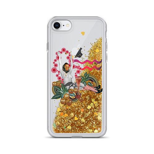 Aquarius- Zodiac Series- Liquid Glitter Phone Case