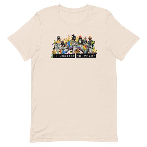 No Justice No Peace Defund the Police #blacklivesmatter Unisex T-Shirt