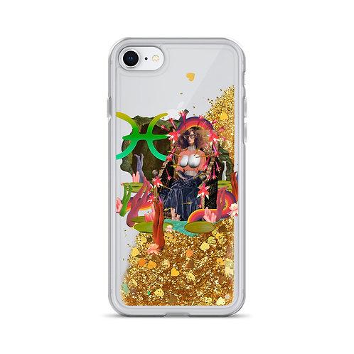 Pisces- Zodiac Series- Liquid Glitter Phone Case