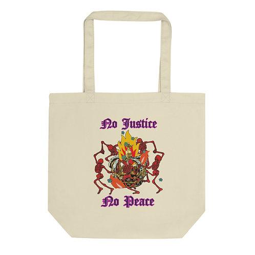 No Justice No Peace #BLACKLIVESMATTER Eco Tote Bag