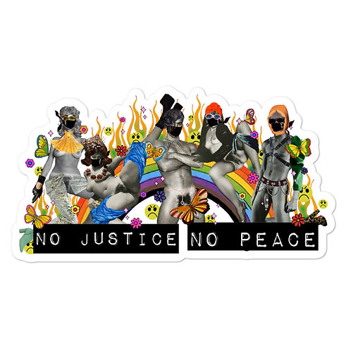 No Justice No Peace Defund the Police Bubble-free stickers