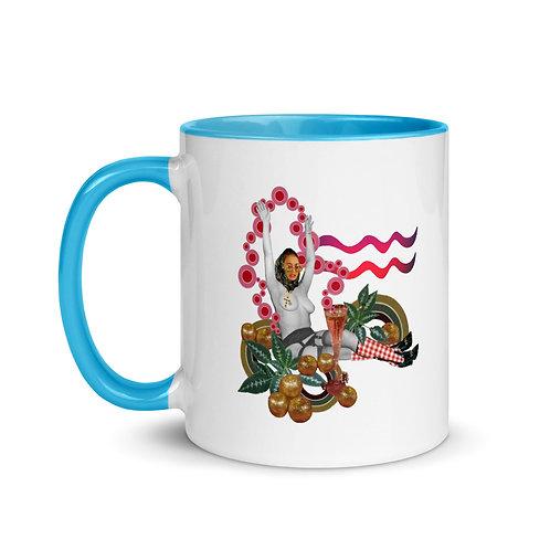 Aquarius- Zodiac Series- Mug with Color Inside