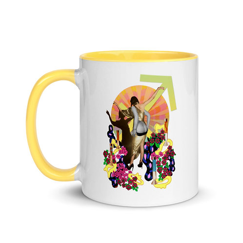 Sagittarius- Zodiac Series- Mug with Color Inside