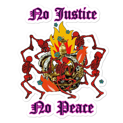 No Justice, No Peace #BLACKLIVESMATTER Bubble-free stickers