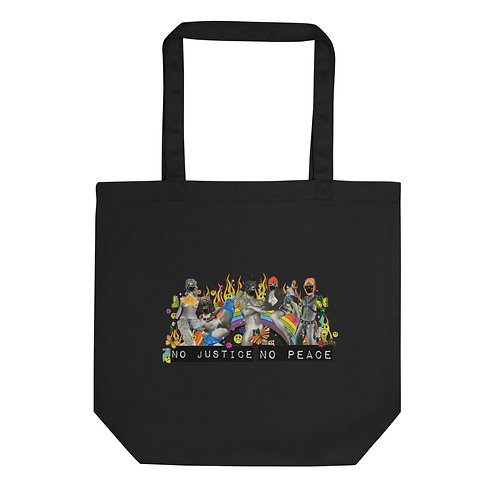 No Justice No Peace Defund the Police- #blacklivesmatter Eco Tote Bag