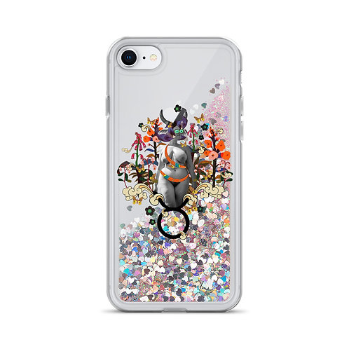 Taurus- Zodiac Series- Liquid Glitter Phone Case