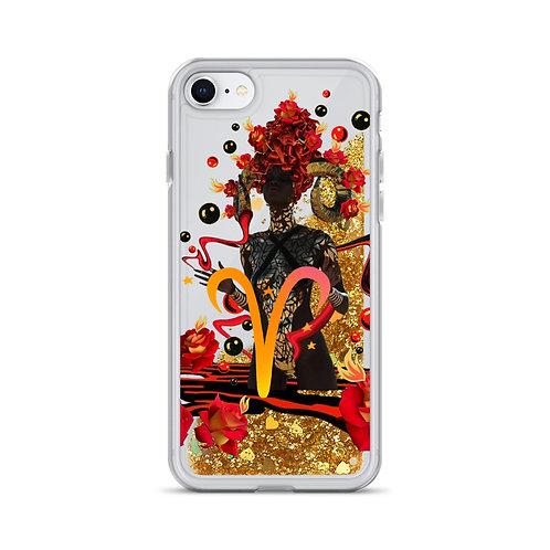 Aries- Zodiac Series- Liquid Glitter Phone Case