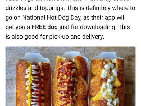 本日はNational Hot Dog Day!