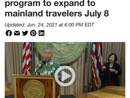 アメリカ本土からのハワイ旅行。