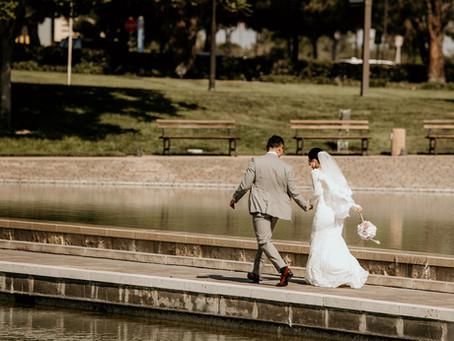 留学先での結婚式。