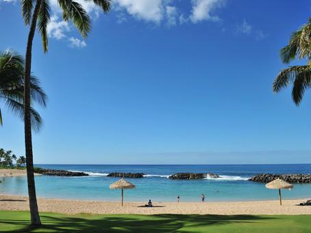 コオリナのビーチはハワイ王国の休養地。
