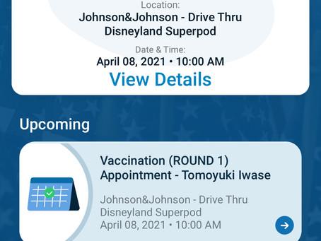 ワクチン接種しました。