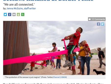 メキシコとの国境に素敵なデザインで受賞。
