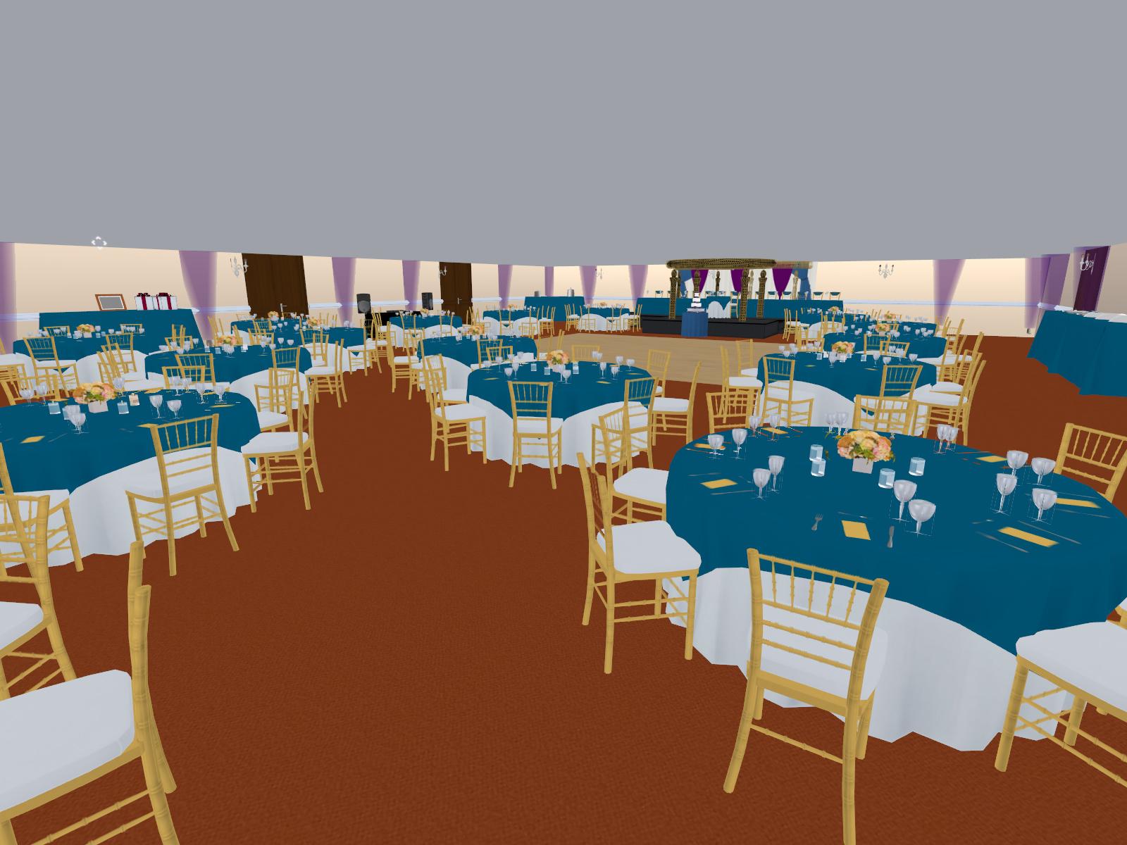 3D rendering of formal wedding