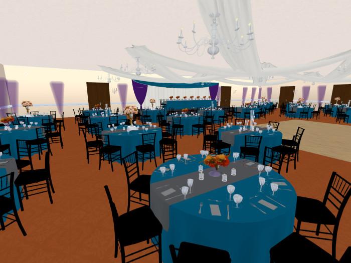 3D rendering of elegant wedding