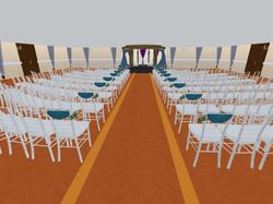 3D rendering of wedding ceremony