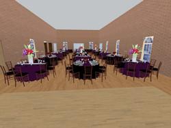 3D rendering of venue layout