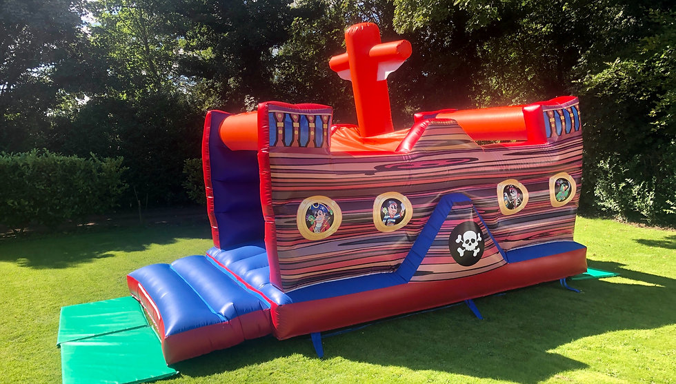Mini Pirate Ship Bouncy Castle