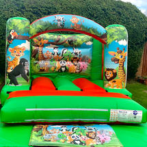 Jungle 10x10ft Themed Bouncy Castle
