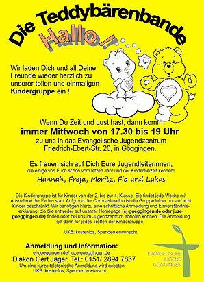 Kindergruppenflyer - Mittwoch JuZe Herbs