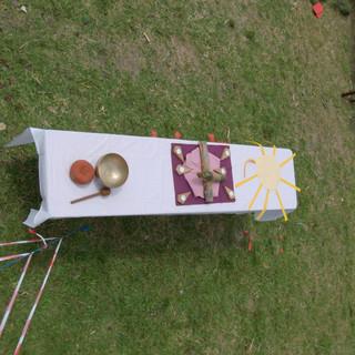 Zeltlager - Altar am Kindergottesdienst