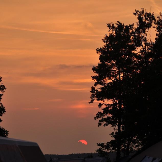 Zeltlager - Sonnenuntergang
