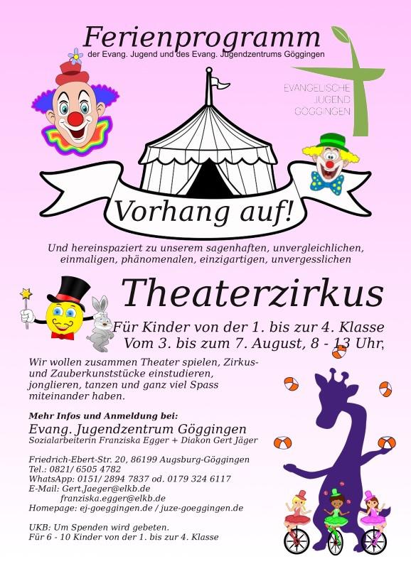 Sommerferienprogramm 2020 - Theaterzirku