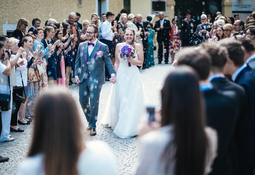 Auszug aus Kirche, Hochzeitsfotograf Niederösterreich, Klosterneuburg, Hollabrunn, Krems, Hochzeitslocation Mödling