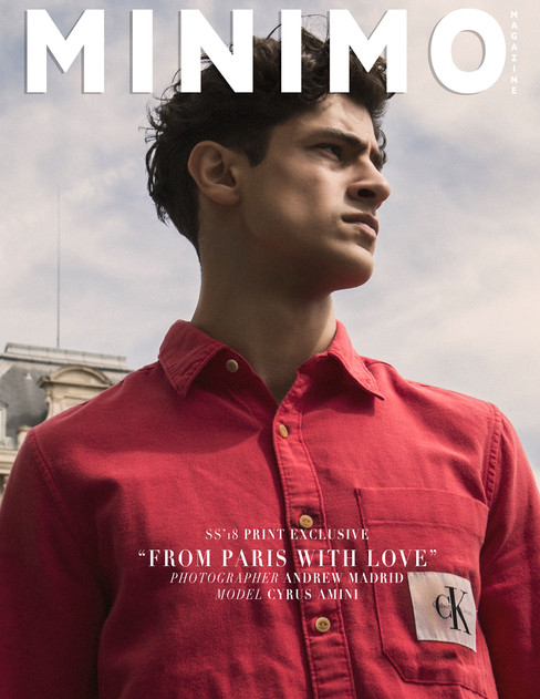 Minimo Magazine Print Exclusive: Cyrus Amini @ MP Paris by Andrew Madrid
