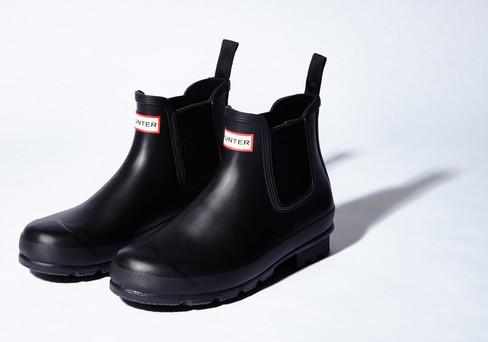 Stay Dry: Hunter Men's Original Dark Sole Chelsea Boots