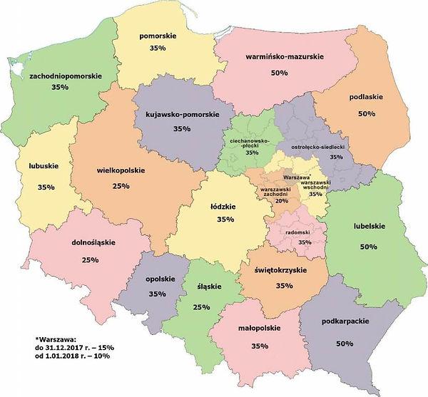 Mapa pomocy regionalnej na lata 2014-202