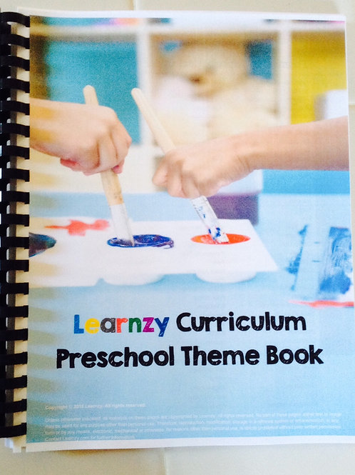 Preschool Theme Book