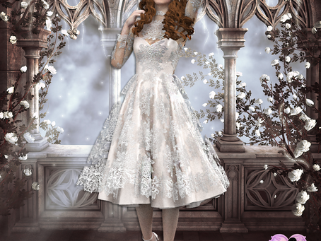 Vestido de novia corto, Clo3d/Photoshop