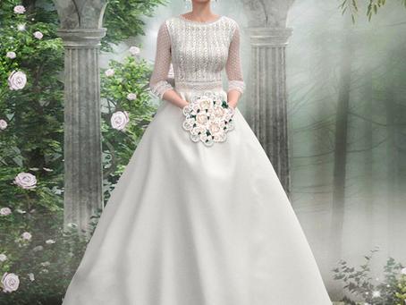 Simulando vestido de novia de Rosa Clará