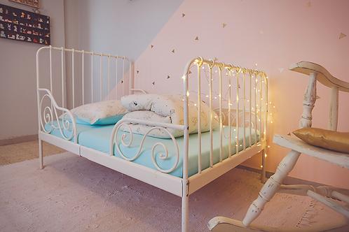 סט מצעים למיטת תינוק/מעבר אקוה