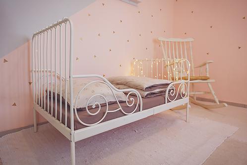 סט מצעים למיטת תינוק/מעבר צבע מוקה