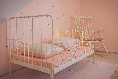 סט מצעים למיטת תינוק/מעבר אפרסק