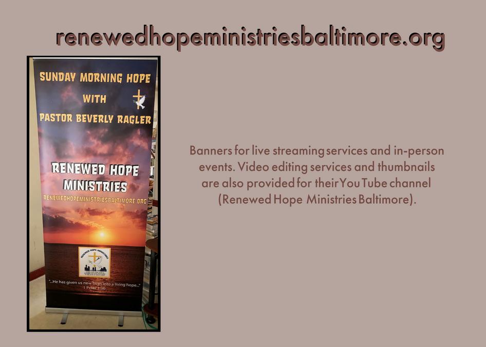 Renewed Hope Ministries Baltimore