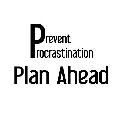 (T-Shirt) Prevent Procrastination
