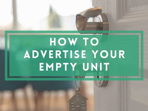 HOW TO ADVERTISE YOUR EMPTY UNIT