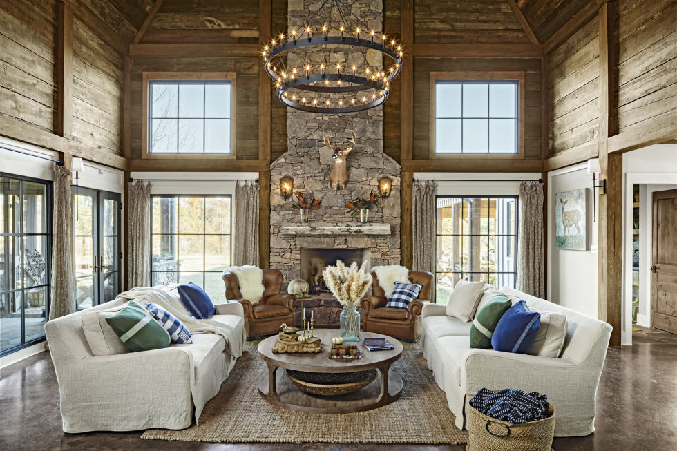 Rustic Elegant Living Room