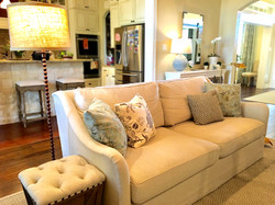Living room linen couch