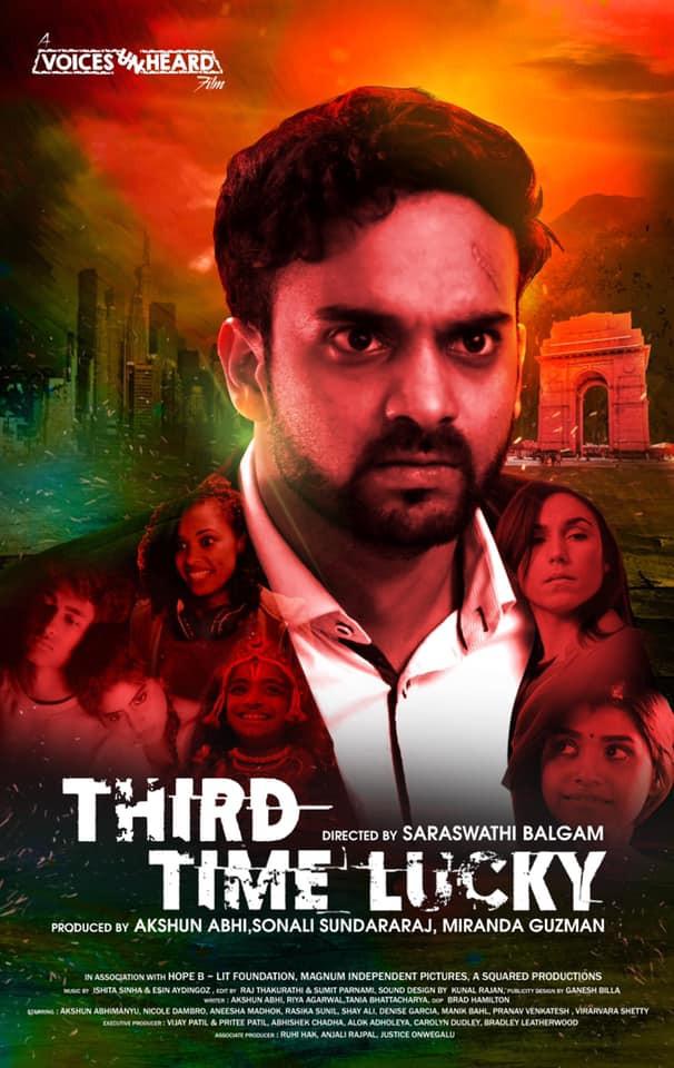 "Nicole Dambro stars alongside Akshun Abhimanyu in his latest short film, ""Third Time Lucky"""