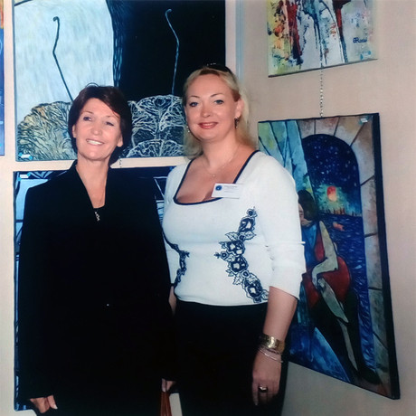 With Marina Picasso at the Cannes International Exhibition, 2012