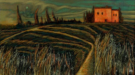 The dry grass