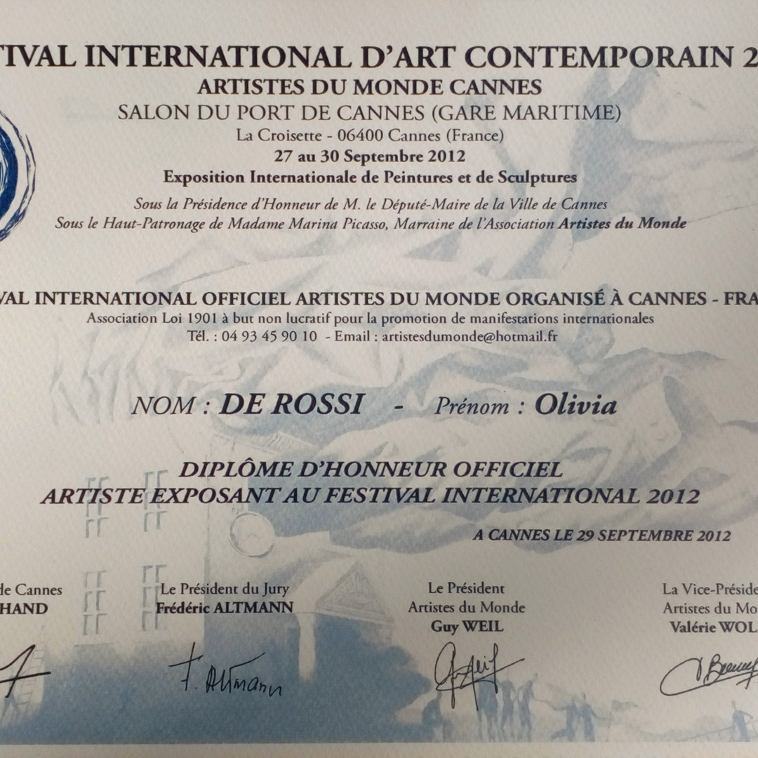 Cannes festival diploma