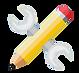 Icône outil et crayon