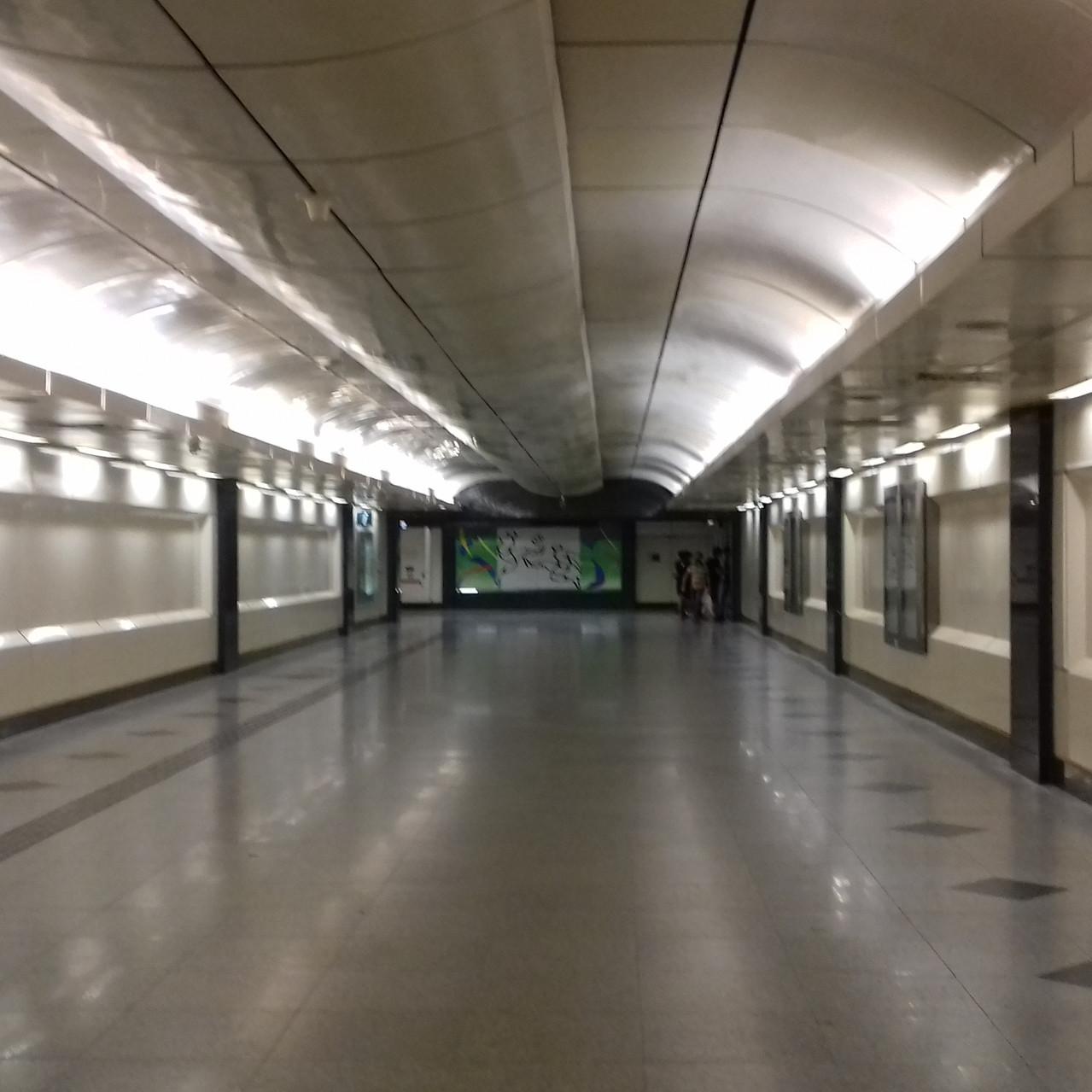 Le métro aseptisé